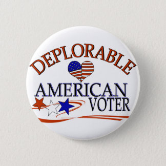 DEPLORABLE AMERICAN VOTER 2 INCH ROUND BUTTON