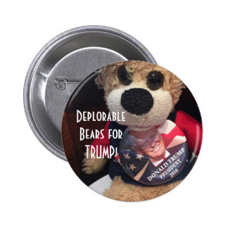 Deplorable Bears for Trump 2 Inch Round Button