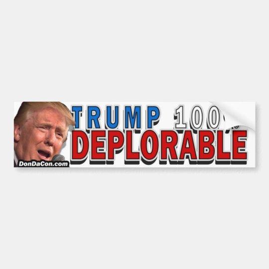 Deplorable Bumper Sticker