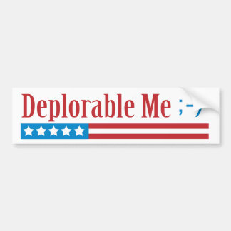 Deplorable Me Bumper Sticker with Texting