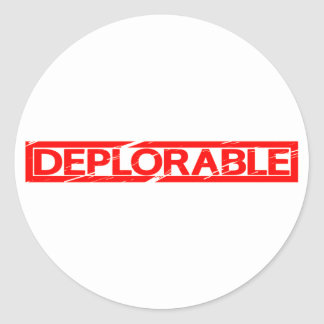 Deplorable Stamp Classic Round Sticker