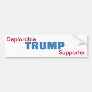 Deplorable Trump Supporter Bumper Sticker
