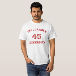 Deplorable U 3 shirt in red