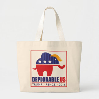Deplorable US Canvas Grocery Bag