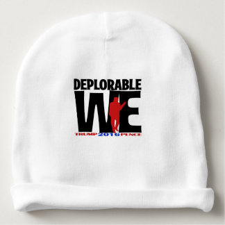 Deplorable We Wear for the Deplorable Wee Ones Baby Beanie