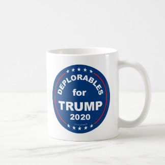 DEPLORABLES FOR TRUMP 2020! Funny Anti Hillary Coffee Mug