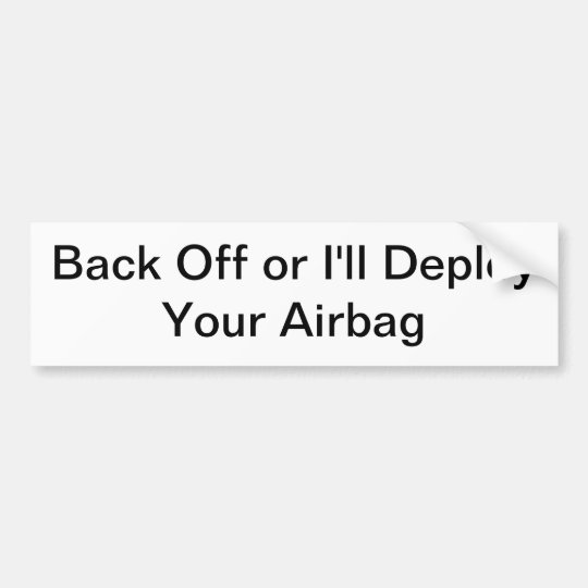 deploy airbag sticker