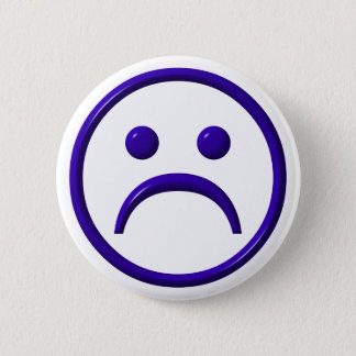 Depressed , Sad & Blue Face 2 Inch Round Button