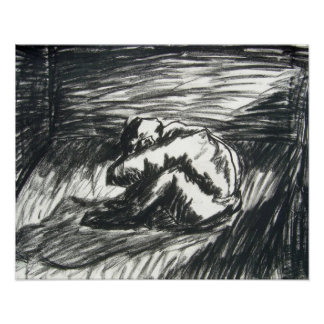 Depression - Alone in a dark Room Poster