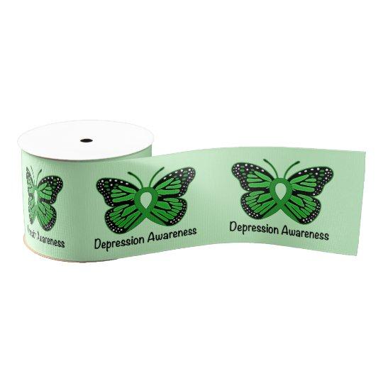 """Depression Awareness 3"""" Grosgrain Ribbon"""