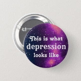 Depression Customizable Galaxy Identity 2 Inch Round Button