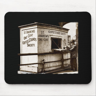 Depression Era One Penny Coffee Stand Mousepad