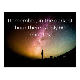 Depression quote postcard greeting card