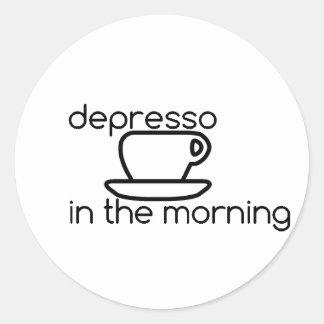 depresso in the morning Sticker