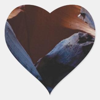 depth of rocks heart sticker