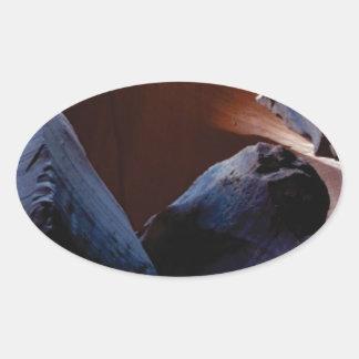 depth of rocks oval sticker
