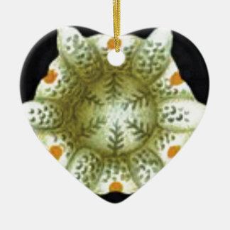 depth of the white flower ceramic ornament