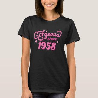 Depuis 1958 T-shirt magnifique d'anniversaire