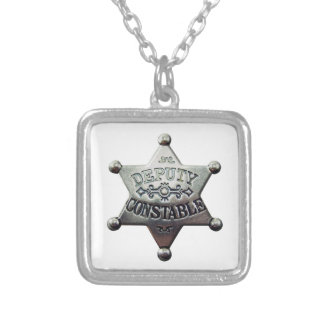 DEPUTY CONSTABLE SILVER PLATED NECKLACE