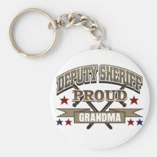 Deputy Sheriff Proud Grandma Keychain
