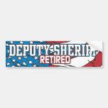 Deputy Sheriff Retired Bumper Sticker