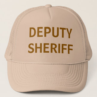 Deputy Sheriff tan mesh trucker hat