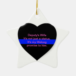 Deputy's Wife Ornament: Its Not just a status Ceramic Ornament