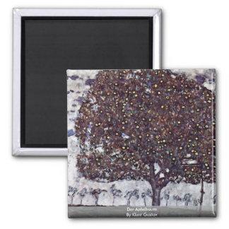 Der Apfelbaum By Klimt Gustav Magnet