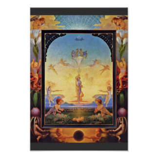 Der Morgen By Runge Philipp Otto (Best Quality) Poster