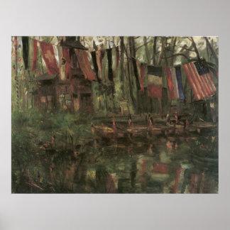 Der neue See im Berliner Tiergarten Print