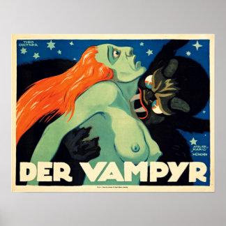 Der Vampyr Vintage Film Poster 1920 Expressionist