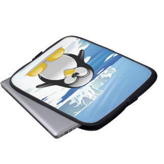 Deranged Penguin Laptop Sleeve