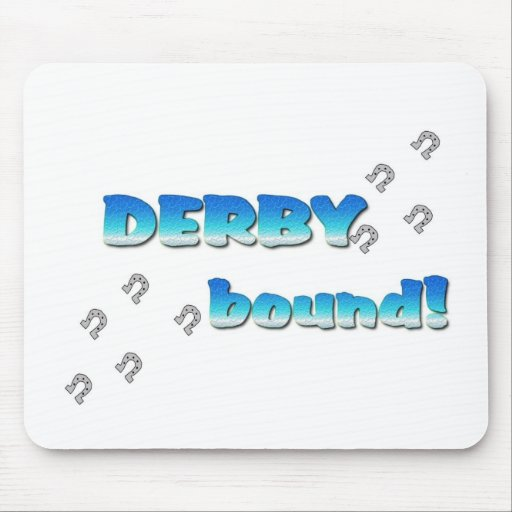 DERBY bound! Blue Silver Mousepads