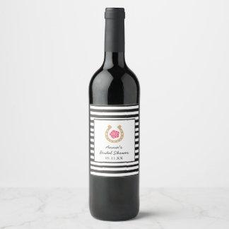 Derby Bridal Shower Wine Champagne Bottle Label