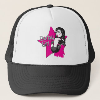 derby girl lt shirt trucker hat