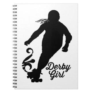 Derby Girl Silhouette, Roller Derby Skating Notebooks