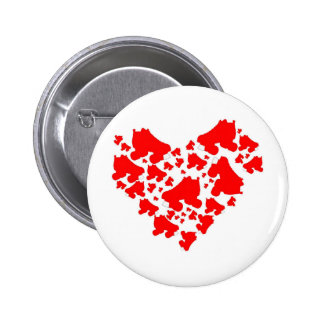 Derby Love 2 Inch Round Button