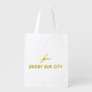 DERBY OUR CITY LOGO GOLD REUSABLE BAG