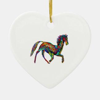 Derby Skies Ceramic Heart Ornament