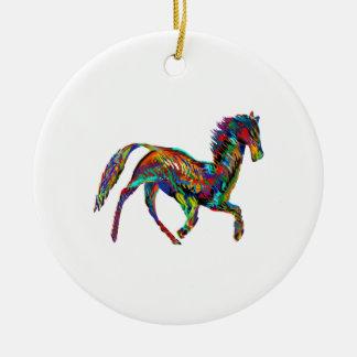 Derby Skies Round Ceramic Ornament