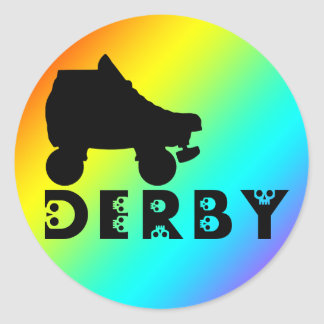 derby : skullphabet classic round sticker