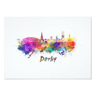 Derby skyline in watercolor card