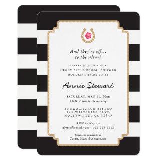 Derby Style Bridal Shower Invitation Horseshoe