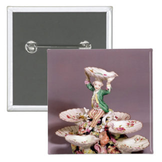 Derby table centrepiece, 1760-65 2 inch square button