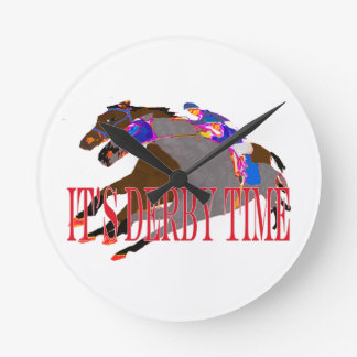 derby time 2016 Horse Racing Wallclock