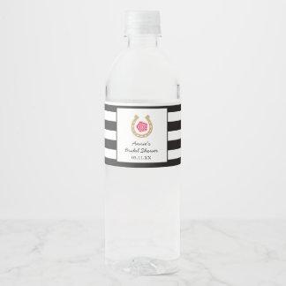 Derby Water Bottle Label for Bridal Shower