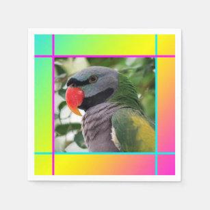 Parrot Bird Napkins | Zazzle ca