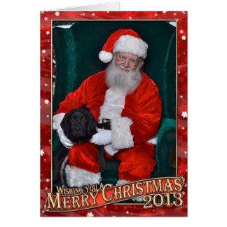 Derek and Santa 2013 Card