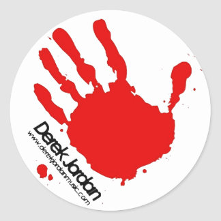 Derek Jordan Handprint Sticker