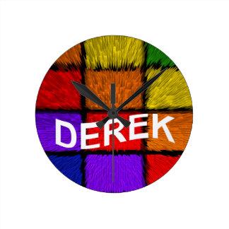 DEREK ROUND CLOCK